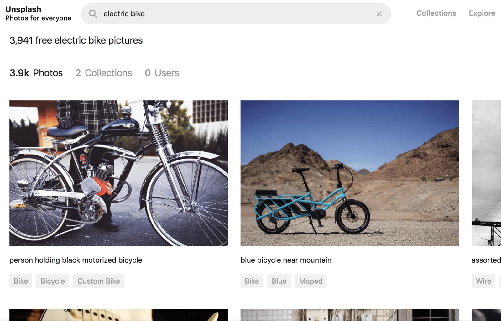 unsplash electric bikes stock photo